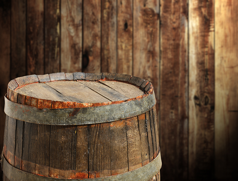 While oak is the most common wood used for casks, you'll find some rarer examples of other woods like Acacia also being used.