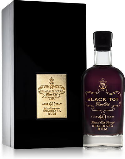 BLACK TOT RARE OLD 40 YEARS DEMERARA RUM